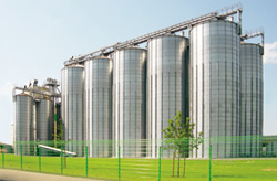 Outside industrial and farm silos